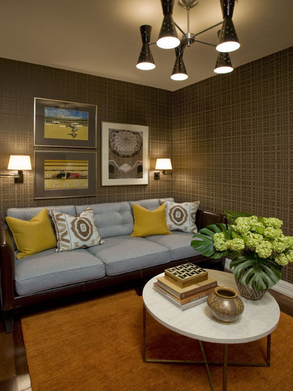 Eclectic Family Room by Willey Design LLC