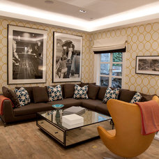 Contemporary Family Room by Morris & Woodhouse Interiors llc