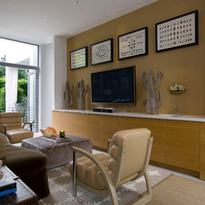 Contemporary Family Room by BROWN DAVIS INTERIORS, INC.