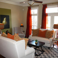 Transitional Family Room by FabDiggity Inc.