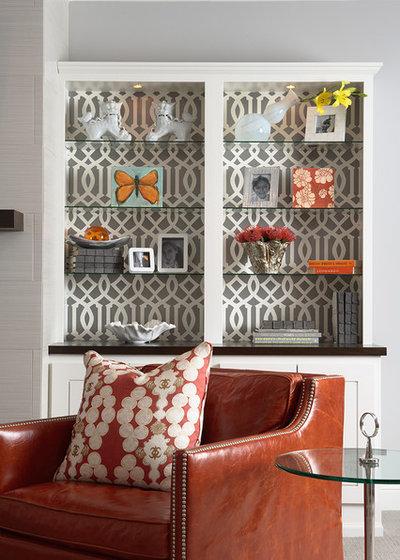 Transitional Family & Games Room by Martha O'Hara Interiors