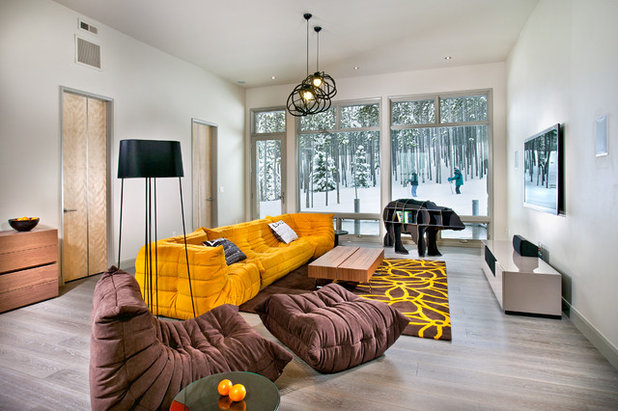 Contemporary Family Room by New Mood Design LLC