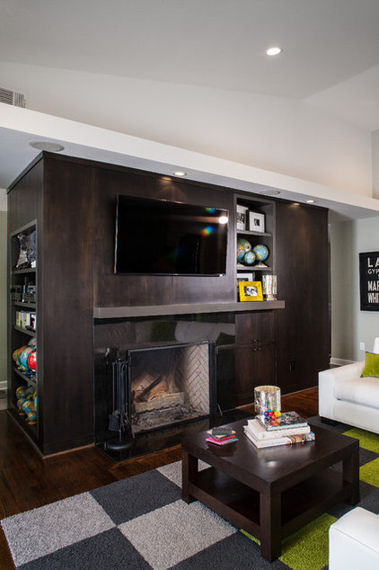 Contemporary Family Room by Renewal Design-Build