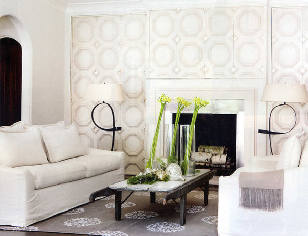 Contemporary Family Room by Yvonne McFadden LLC