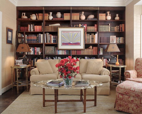 Bookshelves Behind Sofa Houzz