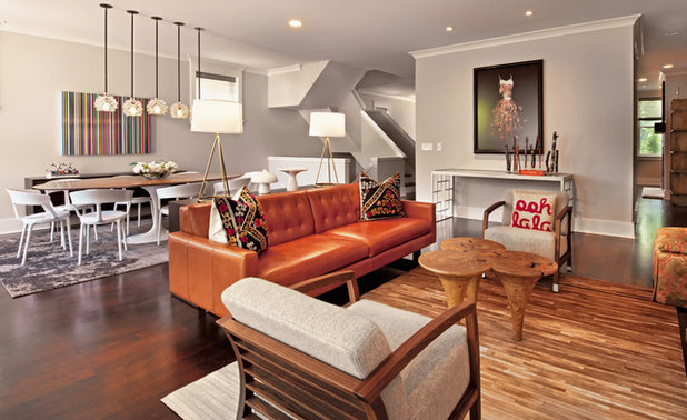Eclectic Family Room by Buckingham Interiors + Design LTD