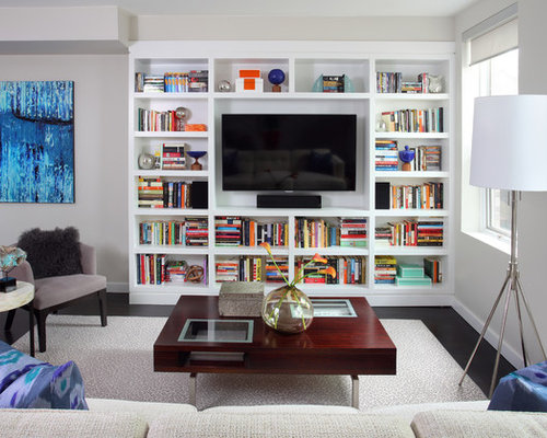 tv bookshelf | houzz