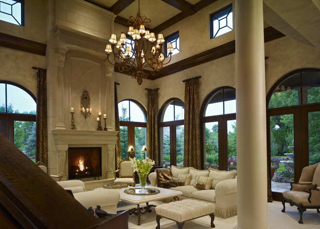 Traditional Family Room by Distinctive Mantel Designs, Inc