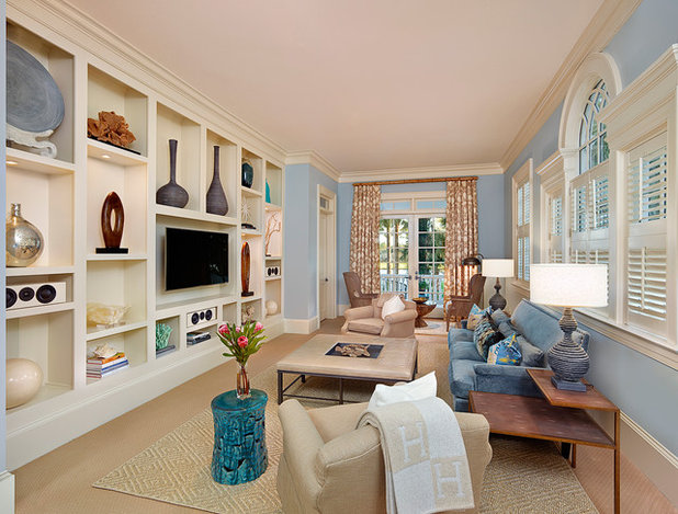 Traditional Family Room by R.M. Buck Builders