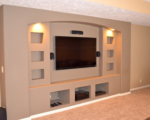 Drywall entertainment center ideas pictures remodel and decor Design plans for entertainment center
