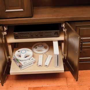 Built-in Entertainment Center Storage for Electronics from Dura Supreme Cabinetr
