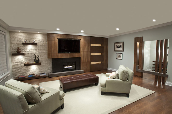 Contemporary Family Room by MB DESIGN & BUILD