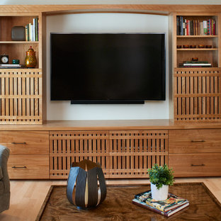 Built-In Media Cabinet with Asian Influence