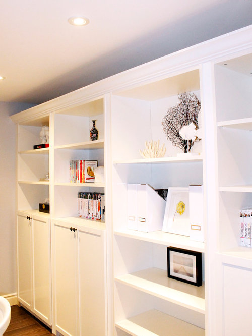 Ikea billy bookcase hack ideas pictures remodel and decor - Contemporary built in bookshelves ...