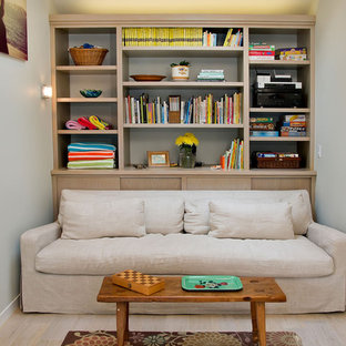 Built-in Storage behind Sofa