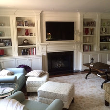 Traditional Family Room by Valleau Custom Woodworking