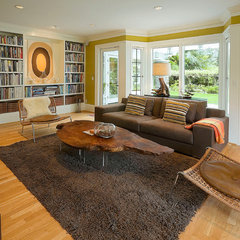 traditional family room by Emerick Architects