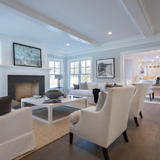 Transitional Family Room by SIR Development