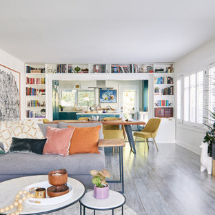 Eclectic family room photo in Los Angeles
