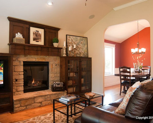 interior design for bungalow house. Example of a classic family room design in Oklahoma City  Save Photo McGregor Homes 4 Reviews Bungalow Interiors Interior Houzz