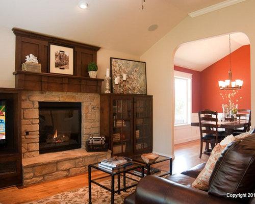 bungalow house interior design. Example of a classic family room design in Oklahoma City  Save Photo McGregor Homes 4 Reviews Bungalow Interiors Interior Houzz