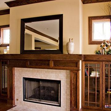 Bungalow Prairie-Style Custom Fireplace