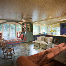 Eclectic Family Room by Bushman Dreyfus Architects