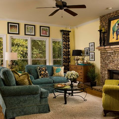traditional family room by Terri Ervin