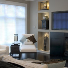 Traditional Family Room by c3d design