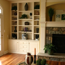 Traditional Family Room by Brave Custom Woodworking