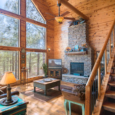 Rustic Family Room by Jason Wallace Photography