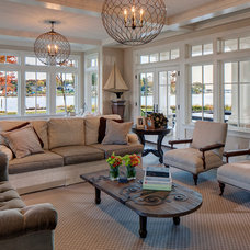 Traditional Family Room by Pyramid Builders