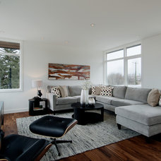 Contemporary Family Room by DEKORA Staging Inc