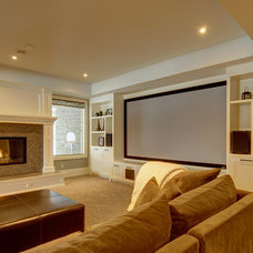 Traditional Family Room by Rockwood Custom Homes