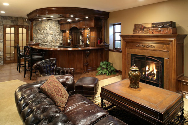 Traditional Family Room by Alexander Design Group, Inc.