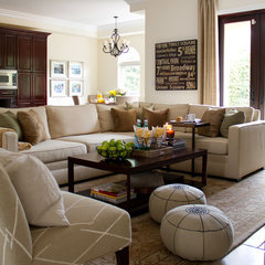 traditional family room by A.S.D. Interiors - Shirry Dolgin, Owner