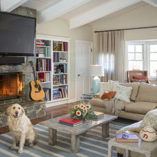Traditional Family Room by Shannon Ggem ASID