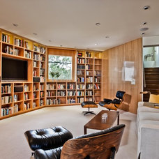 Contemporary Family Room by Strening Architects