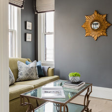 Transitional Family Room by Lovejoy Designs