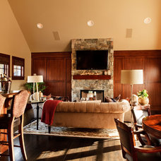 Traditional Family Room by Garrison Hullinger Interior Design Inc.
