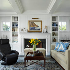 Traditional Family Room by Marianne Jones LLC
