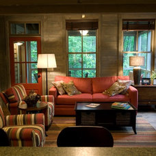 Craftsman Family Room by Pine Mountain Builders, LLC