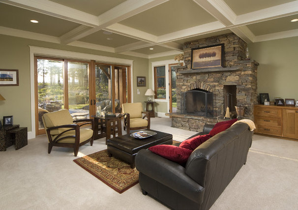 Traditional Family Room by Christian Gladu Design