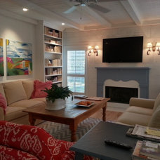 Traditional Family Room by AB Davis Designs