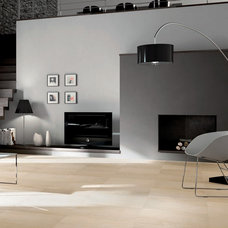 Modern Family Room by CANCOS Tile & Stone
