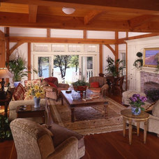 Craftsman Family Room by Timberpeg