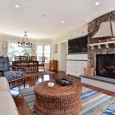 Beach Style Family Room by JB Robbie Builders Inc.