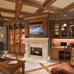 traditional family room by 41 West