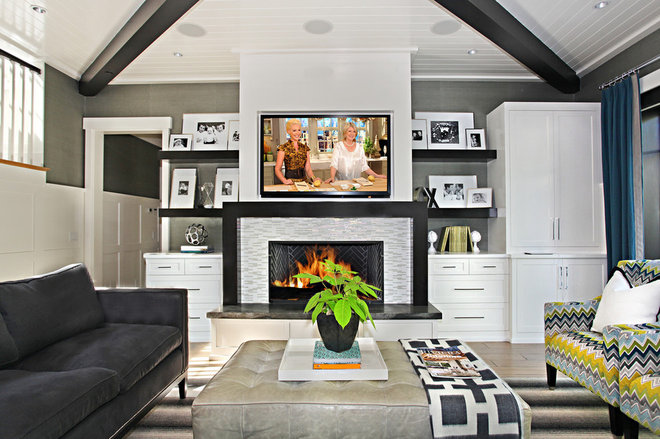 Contemporary Family Room by Brooke Wagner Design