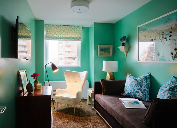 Eclectic Family Room by Christopher Maya Associates Inc.
